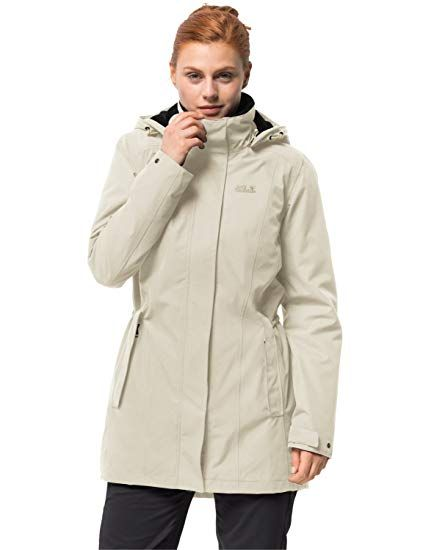 993bebbda54560 Jack Wolfskin Damen Madison Avenue Coat Mantel, White Sand, XS - Winter  Outfits Frauen