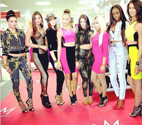 nicki minaj clothing line   NIcki Minaj Visits K-Mart to Promote New Clothing Line