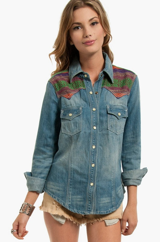 Southwest Denim Shirt