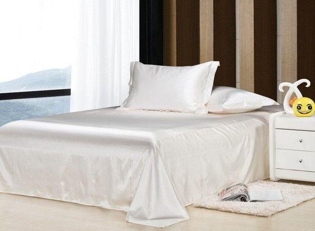 Wholesale!100% Soft skin SATIN SILK BED SHEET PILLOWCASES WEDDING bedding set,sabanas bed linen silk bed sheet set,ropa de cama #ropadecama