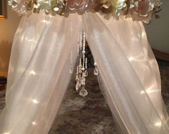 Nursery Crib Canopy-Baby Canopy-Crib Canopy-Bed by DesignsByANM