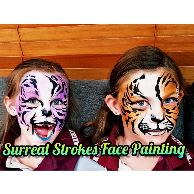 Tiger Face Paint  Surreal Strokes Face Painting   Www.facebook.com/Surrealstrokesfacepainting  #facepainting #design #tiger #tigerfacepaint #colourful