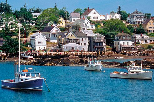 Boothbay Harbor in Maine