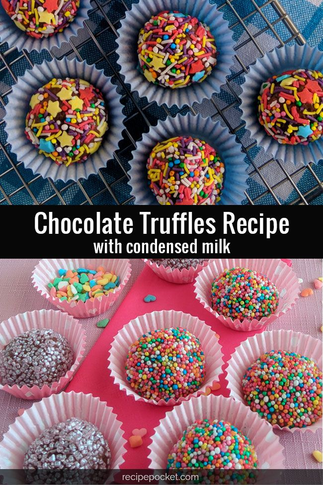 Easy Chocolate Truffles Recipe With Condensed Milk Makes 40 Recipe In 2020 Truffle Recipe Chocolate Chocolate Truffles Condensed Milk Recipes