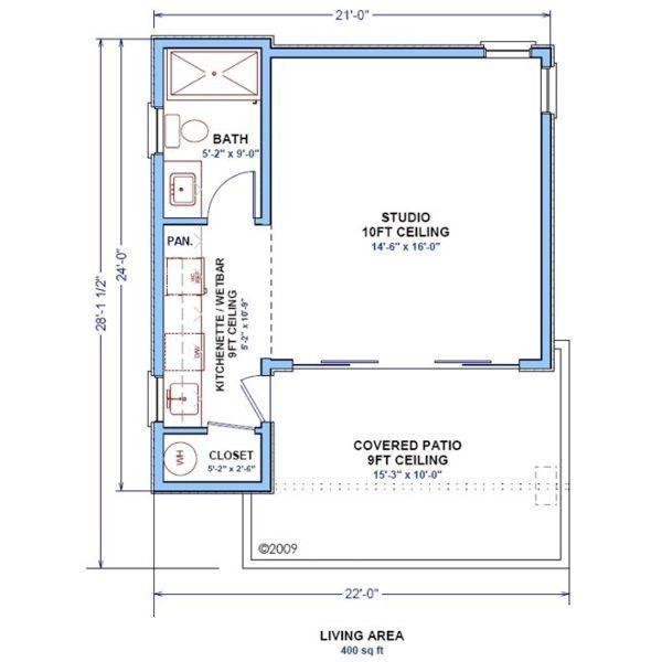 400 Sq Ft Studio Floor Plans Pinterest Studio