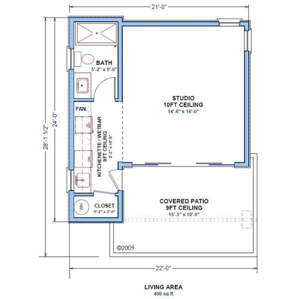 400 sq ft studio floor plans pinterest studios for Home design 400 square feet