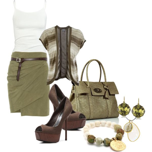 Chic Outfit: Sho, Chic Outfits, Fashion Ideas, Weekend Outfits, Green, Wraps Skirts, Casual Outfits, Work Outfits, Back To Work