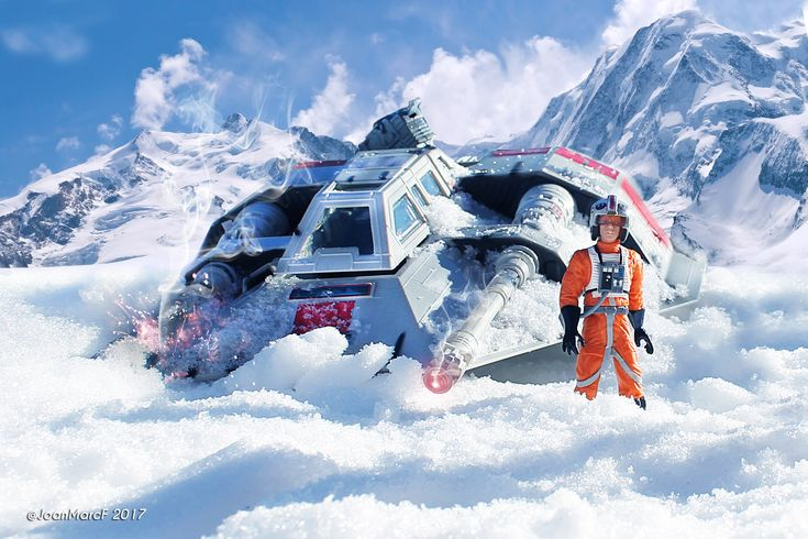 Snowspeeder / toyphotography star wars - edición digital