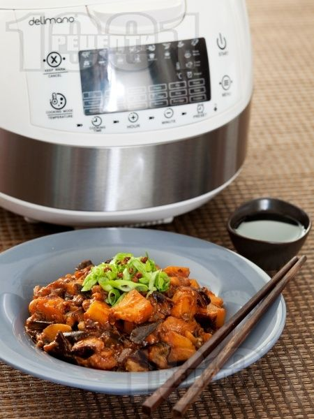 Пържени патладжани с картофи по китайски в Делимано Мултикукър 50 в 1 #cook #cooking #multicooker #delimano #делимано #мултикукър #рецепта #recipe