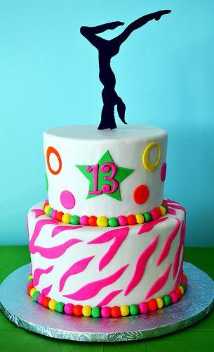 Gymnastics Cake by Simply Sweet Creations (www.simplysweetonline.com)