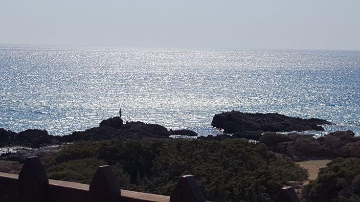 Beach ans sea view from Galathea tavern in Falassarna, Greece #trivo
