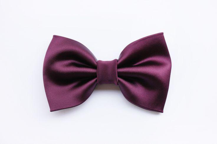 Papillon viola prugna, uomo sposo,elegante,nozze di Scocca Papillon su DaWanda.com