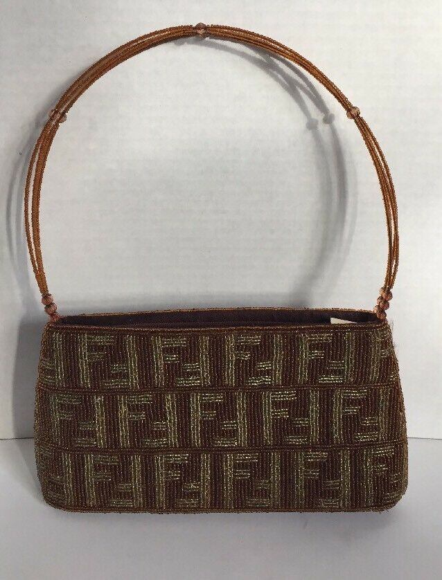 a9a3ce448bc1 VINTAGE FENDI MONOGRAM Beaded Purse in 2019