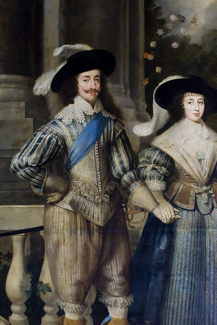 KING CHARLES I OF ENGLAND (SON OF KING JAMES I) & HIS QUEEN, HENRIETTA MARIA OF FRANCE.