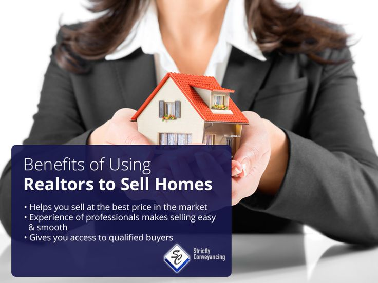 Benefits of Using Realtors to Sell Homes: Helps you sell at the best price in the market Experience of professionals makes selling easy & smooth Gives you access to qualified buyers