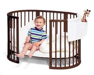 I really dig oval and round cribs.