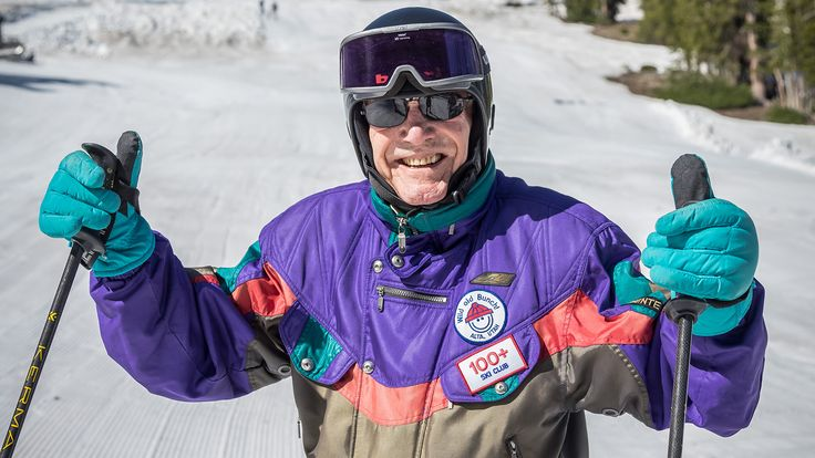 100-year-old skier shares 4 secrets of long, healthy, happy life