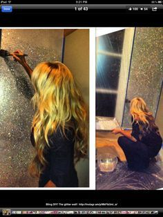 Sparkly wall...I need this in my life