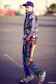colorful adidas tracksuit