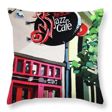 Red Cat Jazz Cafe Painting by Melinda Patrick