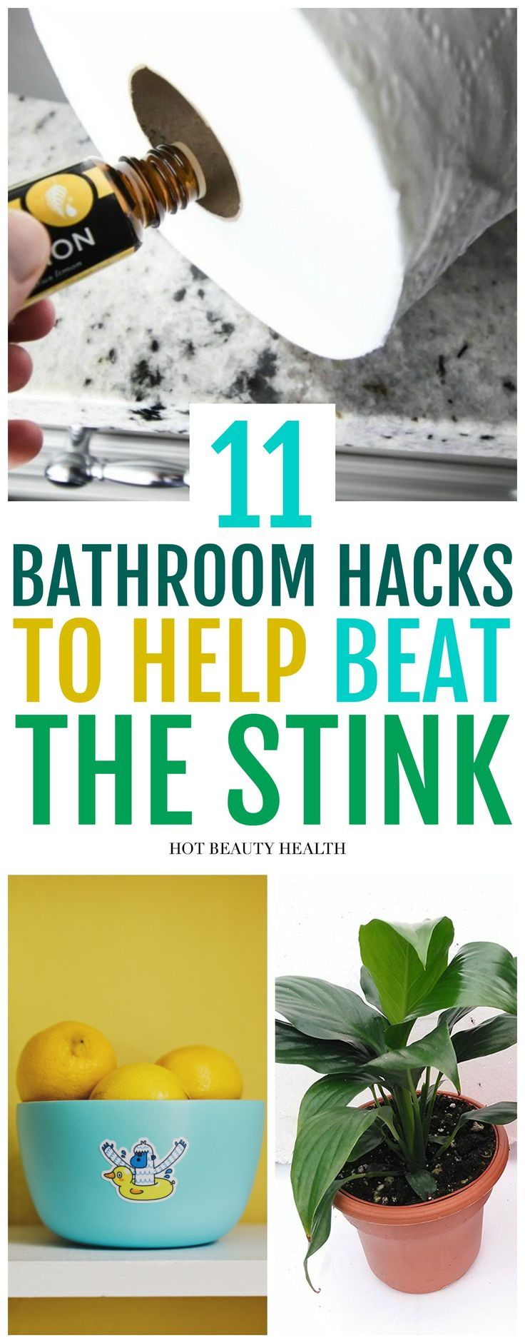 11 ways on how to get rid of bathroom smells naturally! No more mildew, musty and pee-smelling stenches. You'll be so happy to have found these GREAT home hacks when doing your spring cleaning! It's a great way to make your home and bathroom smell really good and fresh! Hot Beauty Health #cleaningtips #cleaninghacks