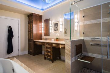 Luxury Japanese-Inspired ADA (Accessible) Bath    Designed  Constructed by Douglas R. Schotland Architect LLC. Photos by Paul S. Bartholomew Photography LLC.    http://drsarchitect.com