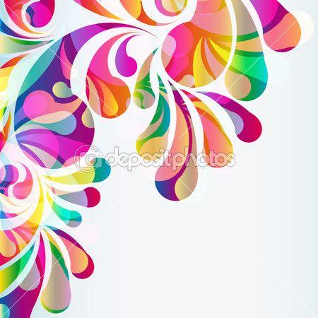 Fondo abstracto colorido arco-gota. Vector — Vector de stock © OlgaYakovenko #45201803