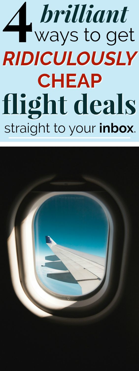 4 Ways to Get Cheap Flight Deals Sent Straight to Your Inbox | Having other people do all the searching for me and email me when there's a airline sale, error fare, or just an especially good price on flights is SO helpful! I can't believe I didn't know about these sooner! And the prices they find on flights are so crazy cheap! I know these will help me travel more often as a budget traveler. #budgettravel #travelhacks #cheaptravel #traveltips