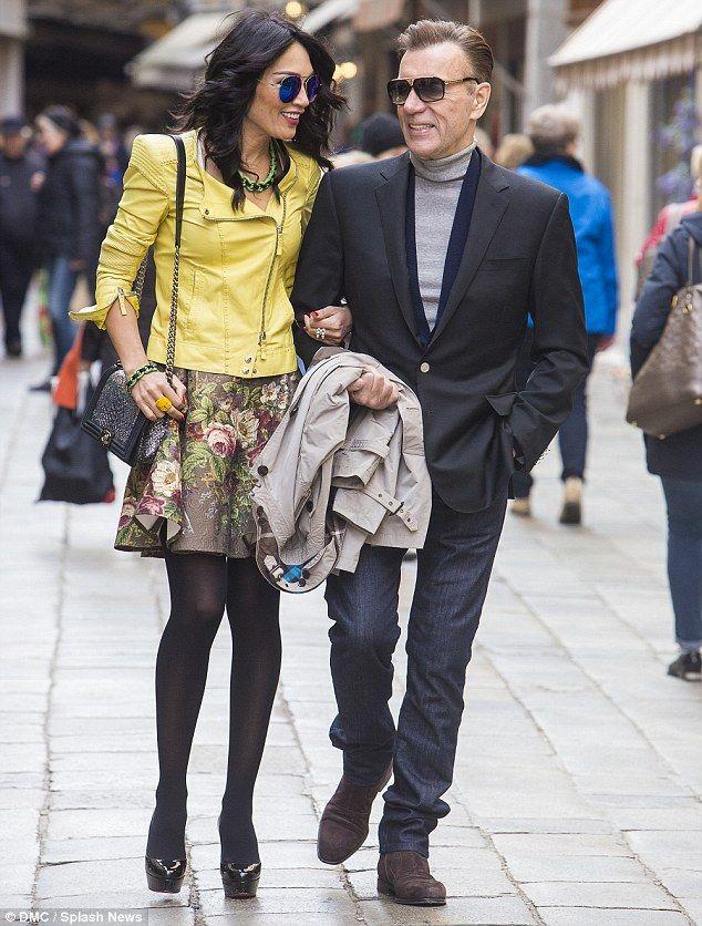 A grand gesture: Duncan Bannatyne helped celebrate his gorgeous girlfriend Nigora Whitehor...