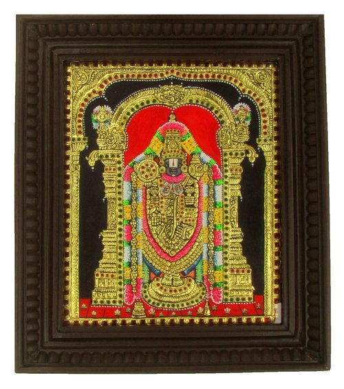 Balaji 12x10 Tanjore Painting | Tanjore Arts Blog | Chola Impressions - Exquisite Tanjore Paintings, Indian Handicrafts & more