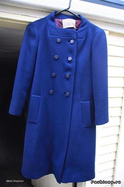 Синие пальто фото