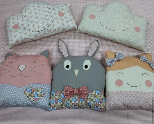 Текстиль, ковры ручной работы. Ярмарка Мастеров - ручная работа. Купить Борта-подушки в кроватку. Handmade. Комбинированный