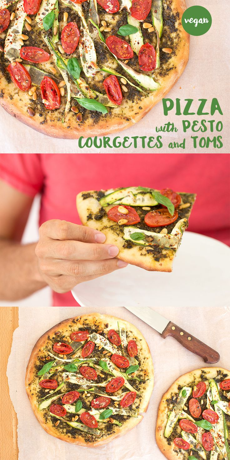 Crispy homemade pizza with a delicious #vegan topping.
