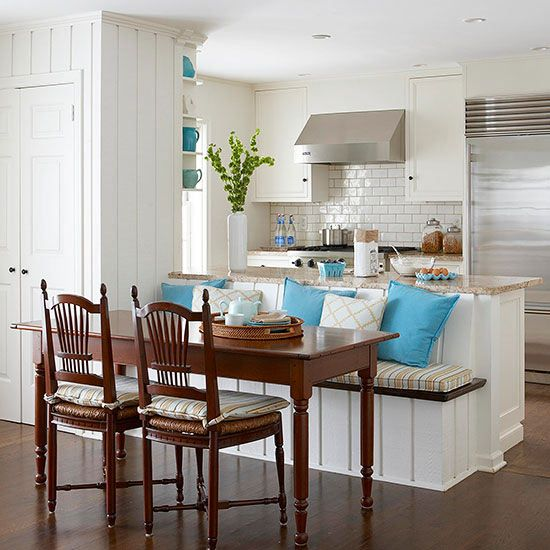 L Shaped Kitchen Island With Seating: 26 Best Built-in Kitchen Seating Images On Pinterest