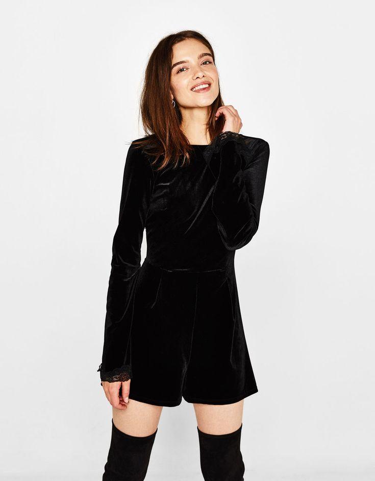Short velvet jumpsuit - Best Sellers ★ - Bershka United States