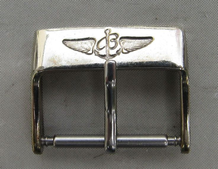 Used Authentic Breitling Stainless Steel Tang Buckle - 18 MM