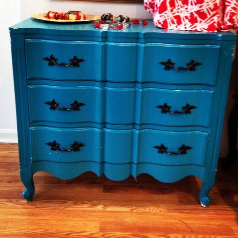 Turquoise 3 Drawer Dresser - Teramasu