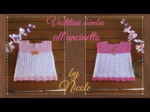 Vestitino bimba all'uncinetto per 2-9 anni-tutorial- Crochet baby dress - YouTube