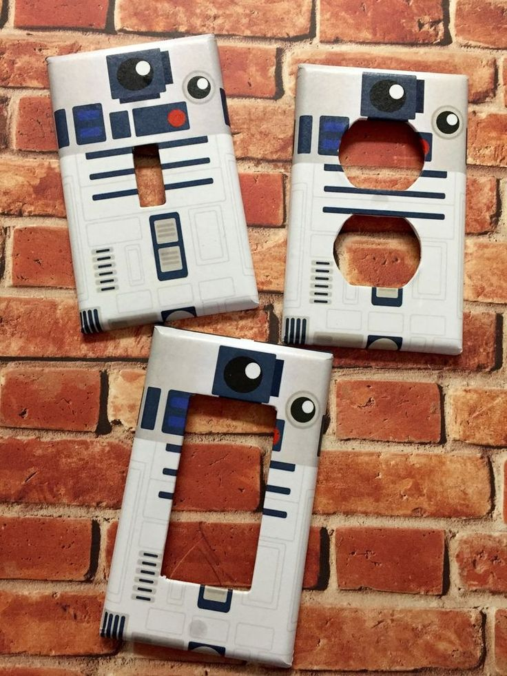 STAR WARS R2D2 Single Outlet,Rocker,Toggle light switch cover plate home decor #Nerdgasmo