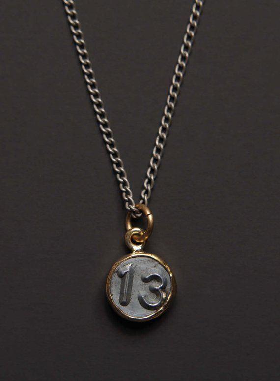 Necklaces For Men Numerology Number 13 Necklace Personalized Men Jewelry Mens Jewelry Numb Silver Chain For Men Men Necklace Mens Gold Jewelry