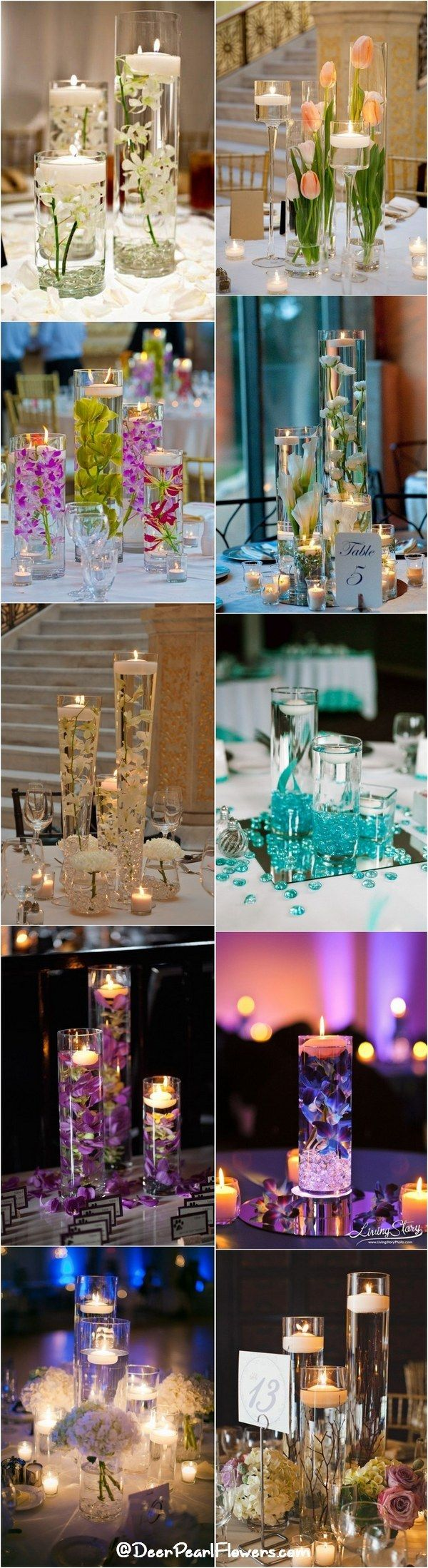 Romantic floating wedding centerpiece ideas / http://www.deerpearlflowers.com/floating-wedding-centerpieces/