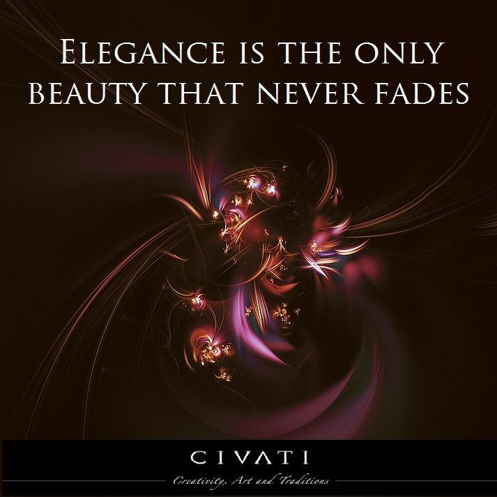 """""""Elegance is the only beauty that never fades"""""""