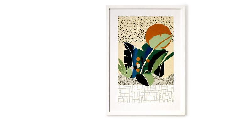 Abstract Botanics, ingelijste print