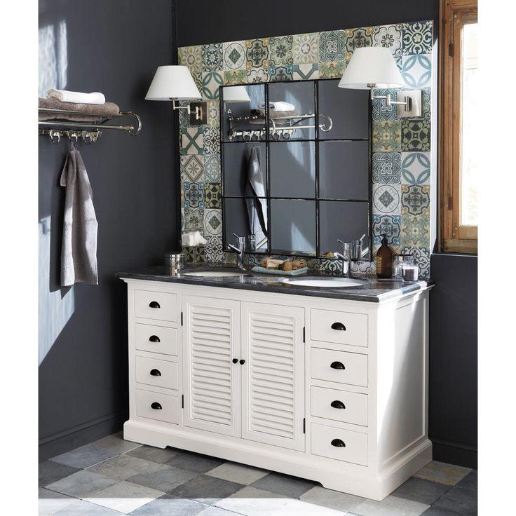 Best 10 double vasque ideas on pinterest double vier de salle de bain me - Meuble lavabo double vasque ...