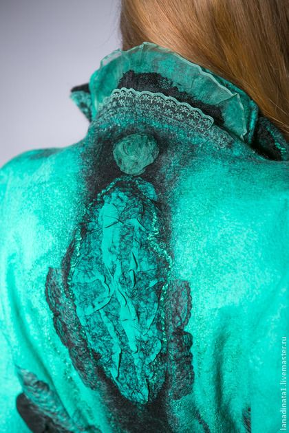 """Купить Жилет из валяной шерсти """"Бирюза"""" - тёмно-бирюзовый, жилет валяный, жилетка, дизайнерская одежда"""