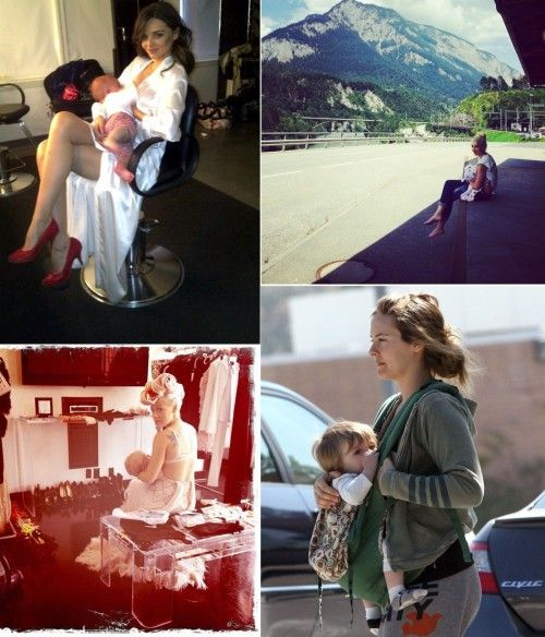 10 celebrity moms who got real about breastfeeding - msn.com