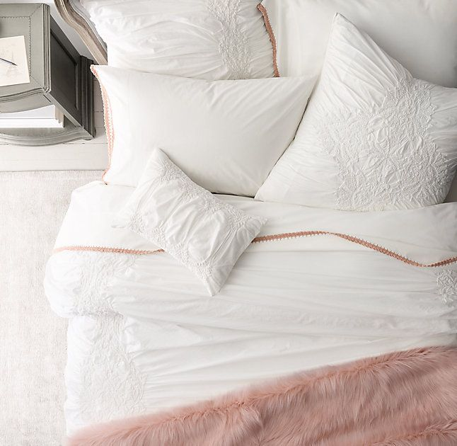 gathered embroidered u0026 vintage bedding collection