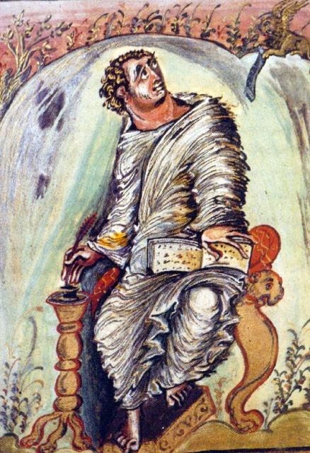Evankelista Markus. Ebbon evenkeliumikirja, 816-835, pergamenttia, 25 x 20cm