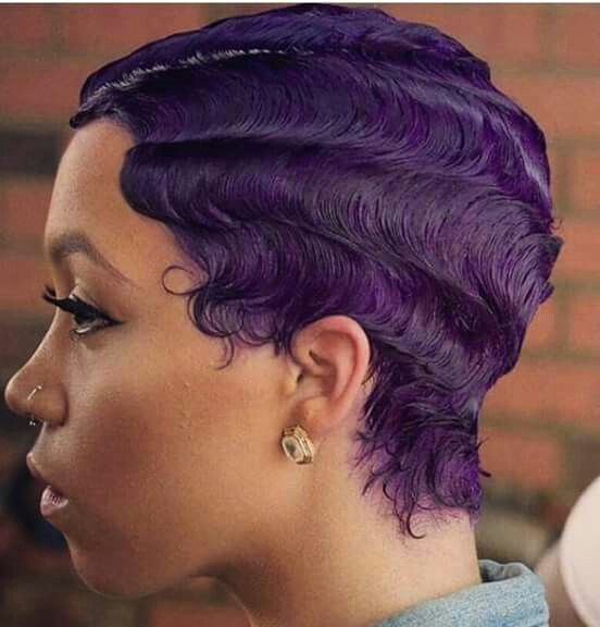 Purple finger waves