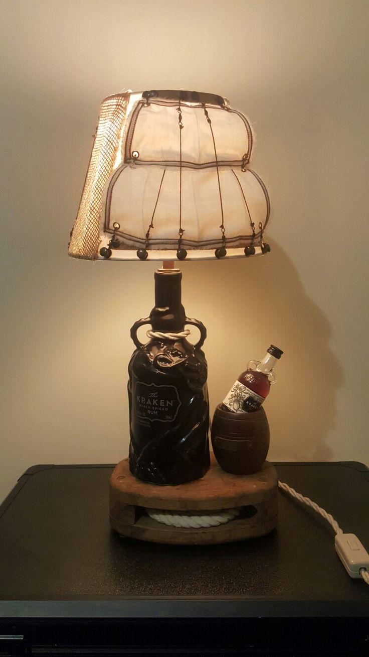 The Kraken light #kraken #alcoholbottle #lamp #shippulley #shipsails #alcohol